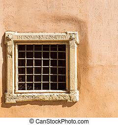 Medieval wall window