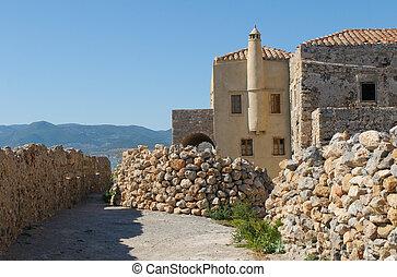Medieval walled town of Monemvasia