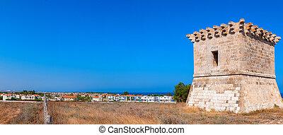 Medieval watchtower at Kiti. Larnaca. Cyprus