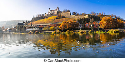 medieval Wurzburg town  in Bavaria, Germany