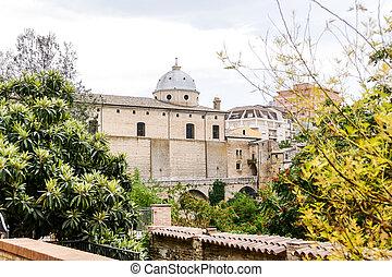 medievale, abruzzo, italia, città, panorama, lanciano