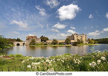medievale, castello, di, leeds, in, kent, regno unito