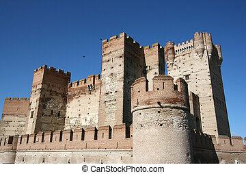 medievale, castello, in, spagna