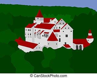 medievale, castello, pernstejn