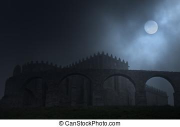 medievale, luna piena