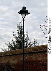 medievale, parete, parco, sibiu, gioventù, lampada