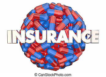 medikation, verordnung, abbildung, versicherungsschutz, medizinprodukt, kapseln, pillen, 3d