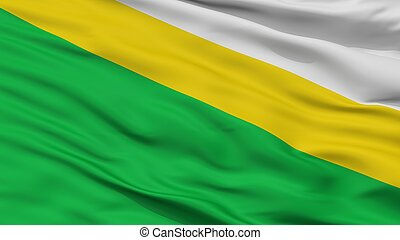 Medina City Flag, Colombia, Cundinamarca Department, Closeup...