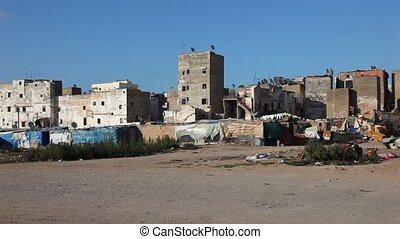 Medina in Casablanca, Morocco - View over the medina in...