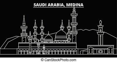 Medina silhouette skyline. Saudi Arabia - Medina vector...