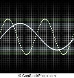 medindo, exposição, ondas