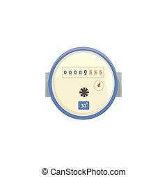 medindo, lar, medidor, doméstico, ilustração, água, vetorial, dispositivo