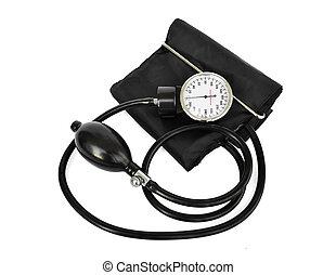 medindo, pressão, médico, sangue, aparelho