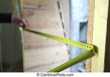 medindo, sendo, estendido, fita