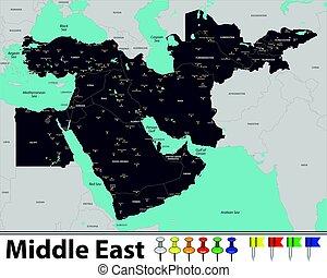 medio oriente, mapa