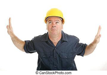 medio, trabajador construcción