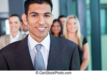 mediorientale, giovane, uomo affari