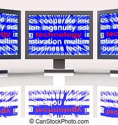 medios, avances, tecnológico, tecnología, monitores, desarrollos