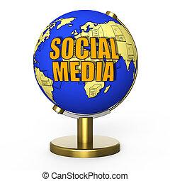 medios, concepto, social