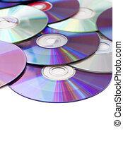 medios, discos, blanco
