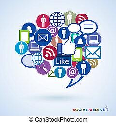 medios, iconos, social
