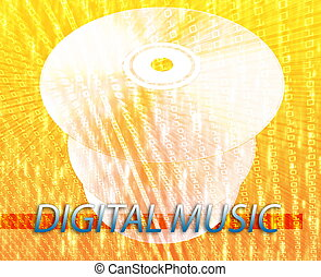 medios, música, digital
