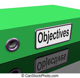 medios, objetivos, misión, plan, archivo, metas