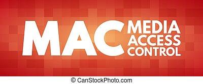 medios, siglas, mac, control, acceso, -