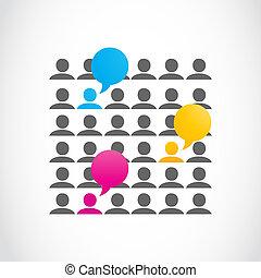 medios, social, comunicaciones