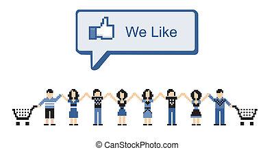 medios, social, mercadotecnia