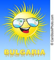 medios, sol, soleado, ilustración, sonriente, 3d, bulgaria