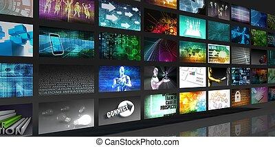 medios, tecnologías, concepto