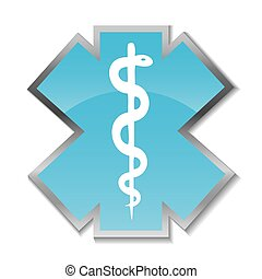 medisch, abstract, symbool., achtergrond, caduceus