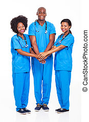 medisch, afrikaan, team