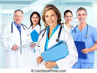 medisch, artsen, team