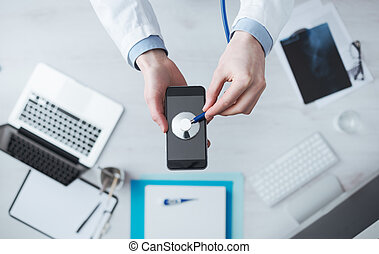 medisch, beweeglijk, app, en, technologie