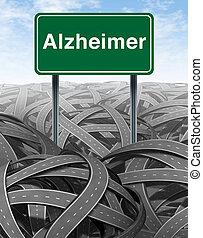medisch concept, alzheimer, ziekte, demente mens