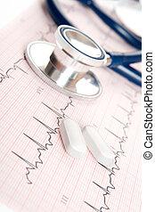medisch concept, -, hart, onderzoek