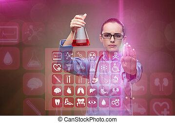 medisch concept, laboratorium, arts