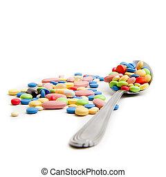 medisch concept, pillen, gecreëerde