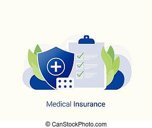 medisch, gezondheidszorg, concept., verzekering