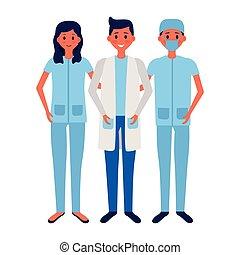 medisch, mensen, team