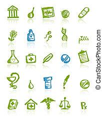 medisch, ontwerp, jouw, iconen