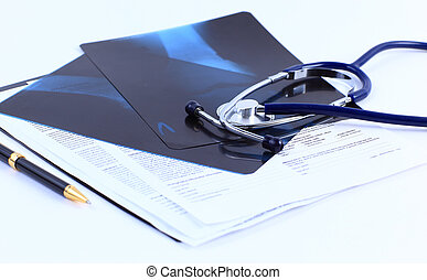 medisch, papier, handvat, beeld