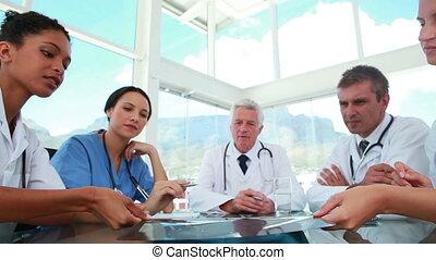medisch personeel, borst, werkende , rontgen