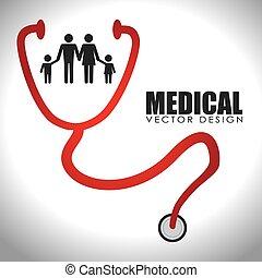 medisch, vector, ontwerp, illustration.
