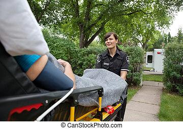 medisch, vervoeren, care