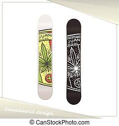 medisch, vijf, snowboard, marihuana