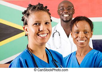 medisch, werkmannen , zuidelijke afrikaan