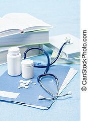 medische arts, pillen, accessoires